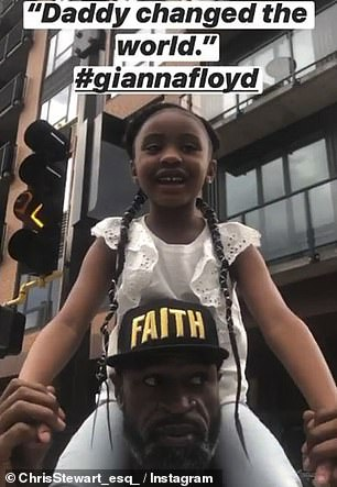 Kanye West will pay for the college tuition of six-year-old Gianna Floyd (with her uncle Terrance)
