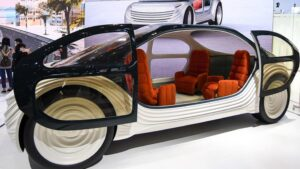 The interior of the Airo is intended to be more like a room than a car -GETTY IMAGES